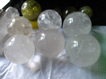 natural rock crystal balls, 100-200mm natural clear crystal spheres