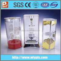 Plastic 3D transparent wine package box
