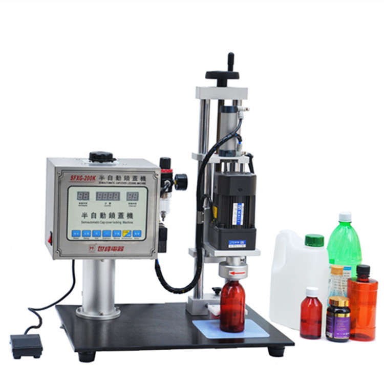 Semi-automatic Capping Machine For Plastic Bottles