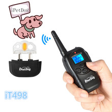 China top ten selling pet products remote control 300m shock/ vibration/ beep 100 level dog training shock collar for hunmens