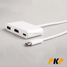 Hot selling USB 3.1 TYPE C to HDMl and USB and type C Adapter