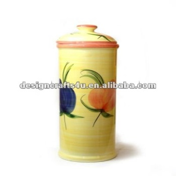 decorative ceramic pasta container
