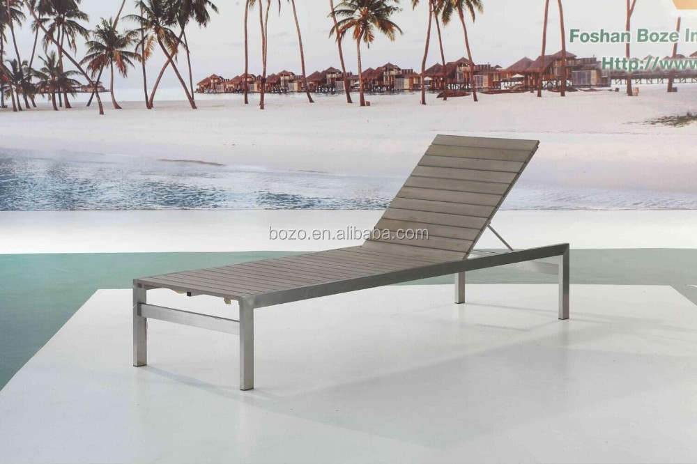 304 stainless steel polywood chaise lounge for outdoor