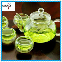 High quality heat resistant glass coffee tea gift set pot with stand