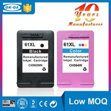 Cheapest factory price for hp 61 with auto reset chip compatible printer ink cartridges