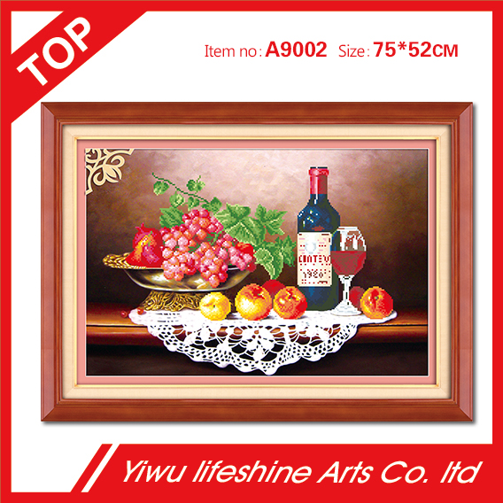 cheap price factory direct sale grape and red wine DIY diamond painting cross stitch handmade craft
