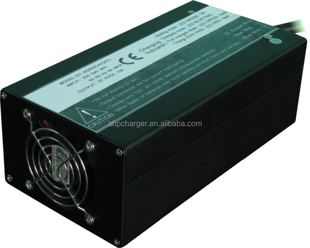 900W 72V 10A intelligent ac to dc lead acid car battery charger