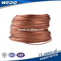 electric power bare copper stranded hs code for cable