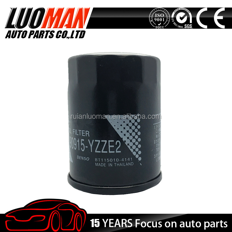 2015 top quality oil filter chinese manufacturer OEM 90915-YZZE2 applicable for Toyota Avensis, RAV 4, Previa ACR30/CLR30/MCR30
