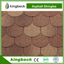Good quality Wholesale diversified color round asphalt shingle