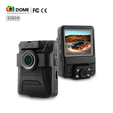 2017 star product GS65H dual lens car dash cam Novatek96655 built in GPS cycle recoding fashion style design car dvr