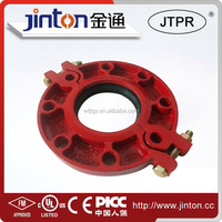 FM UL certificated Ductile Iron Pipe Fittings Ductile iron grooved flange