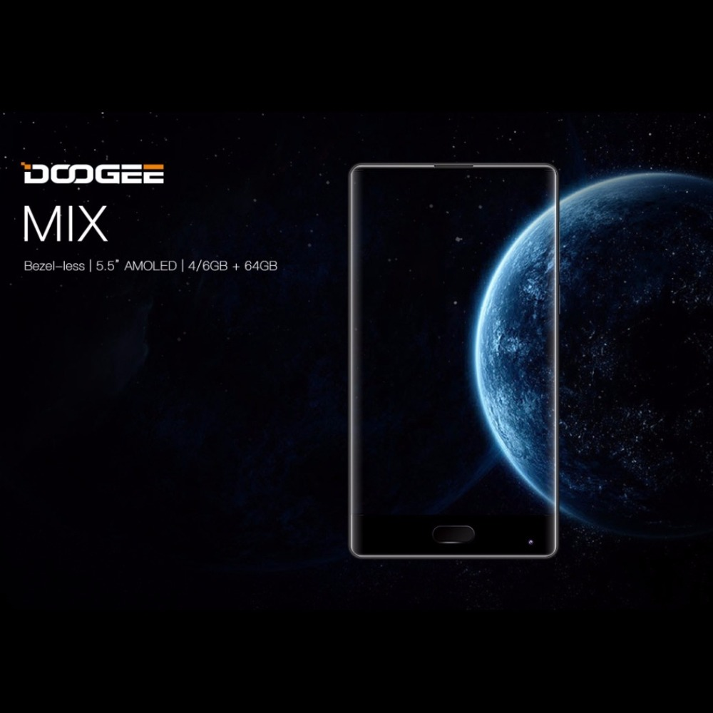 DOOGEE MIX 6GB 64GB 4GB 64GB Fingerprint Dual Rear Camera 5.5 Inch Android 7.0 Helio P25 Octa Core 4G Smartphone