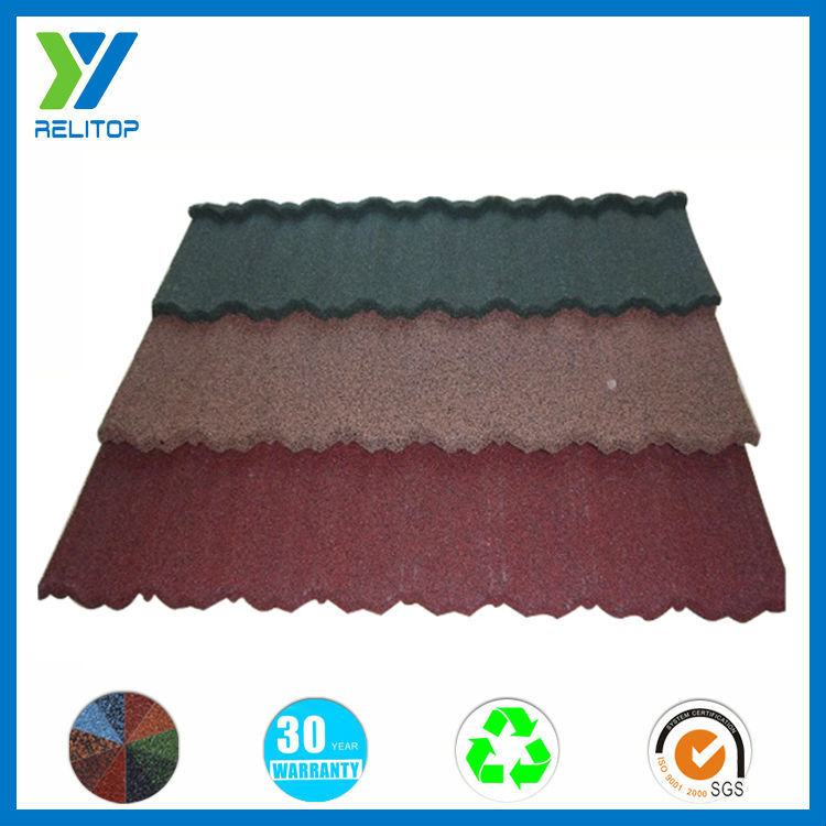 Waterproof wholesale all kinds of stone coated roofing tiles