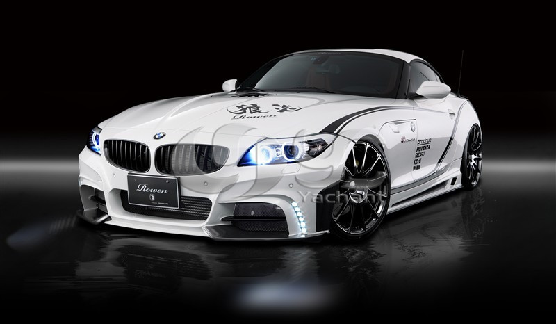 FRP Fiber Glass Rowen White Wolf Edition Style Bodykit Front Bumper Side Skirts Rear Bumper Fit For 2009-2013 Z4 E89