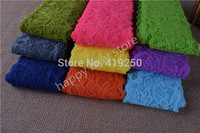 9.5Yards Beautiful Lace Stretch Floral Lingerie Headband Elastic DIY lace wide:8.5cm 7colors grey yellow green orange