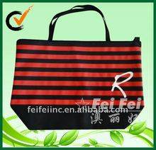 Non woven full color printing lockable large zippered tote bag