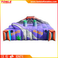 Alibaba inflatable Dino Maze/dinosaur inflatable maze for kids
