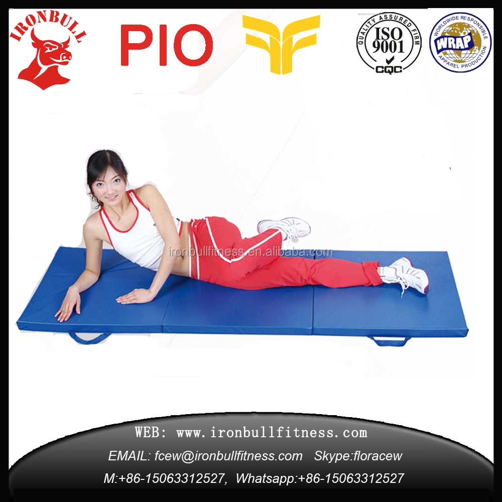 Cheapest Gymnastics 3 Folding PVC Exercise gym mat