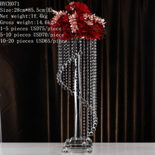 Beautiful wedding decoration crystal flower stand