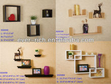 New design Modern Right-Angle Wall Cube Decorative Wall Wood Shelves