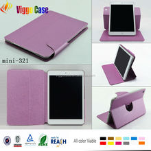 360 degree portable tablet leather case for ipad mini 2 tablet case cover