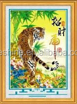 """Lucky Tiger "" New 5D round crystal diy diamond painting"