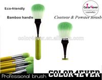 Eco friendly Sythetic Hair high quality Bamboo contour makeup brush air brush makeup kit
