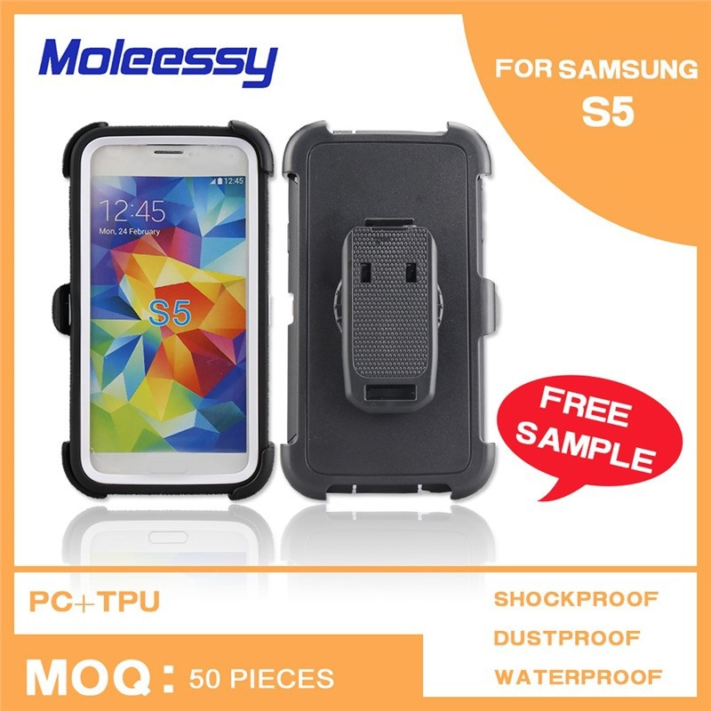 High quality Waterproof Shockproof Powerful 3 parts mobile phone case for samsung i9500