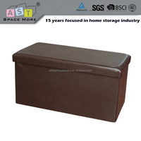 Long folding storage ottoman bench