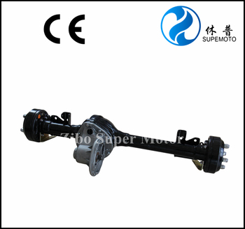 rear differential axle for electric golf cart