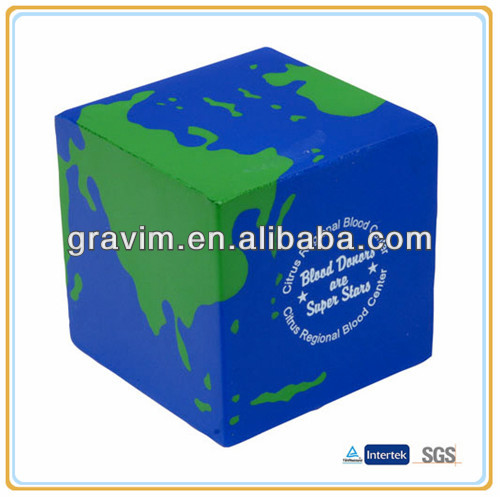 PU special cube earth stress ball