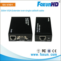 SHUNXUN Hot sale 300M VGA Extender over single cat5e/6 cable resolution reach up 1920x1200