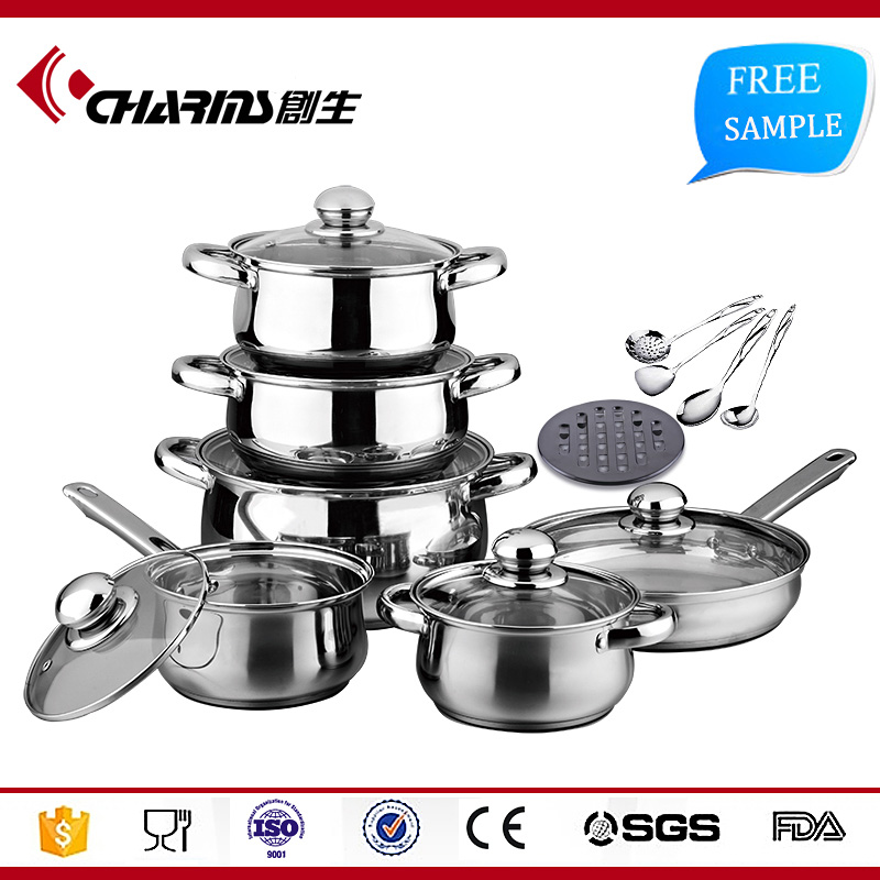 CSG Cheap Price 16Pcs <strong>Stainless</strong> Steel Cookware Set Non Stick, <strong>Stainless</strong> Steel Kitchenware Wholesale