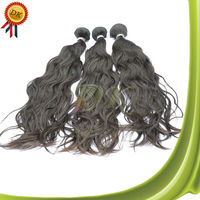 100 european remy virgin human hair weft Natural Wave colored three tone hair weave