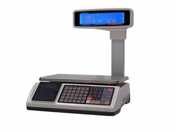 Big double LCD display weight scale with inner printer