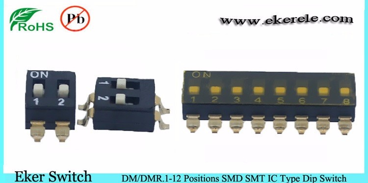 half pitch 1.27mm smt smd mini micro dip switch