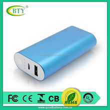 Universal safe battery 5200mah portable mobile power bank