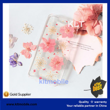 KLT- summer Fashion Dry pressed natural real flower floral cell phone case