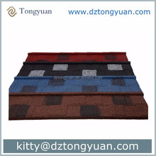 Low price's Shingle tile Stone Coated Metal Tile with 40 years gaurantee