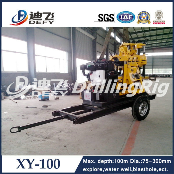 Very cheap price Trailer mounted portable oilfield drilling rig equipment, water wells drilling machine