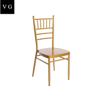 Stacking Tiffany Metal wholesale hotel banquet gold Wedding Chiavari Chair