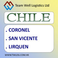Realiable and Professional LCL FCL rate to Chile cargo ship
