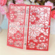 Floral laser cut wedding invitations puberty ceremony invitation cards
