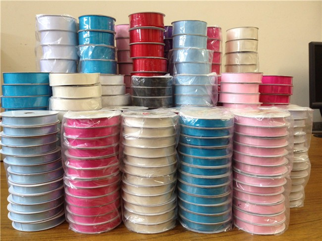 Factory Wholesale 100% Polyester Grosgrain Ribbon For Packaging