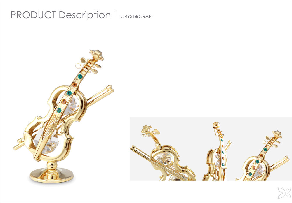 Deluxe Distinctive Gold Plated Metal Decoration For Home