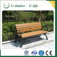 WPC garden bench, outdoor chair, UV-protect and water-proof