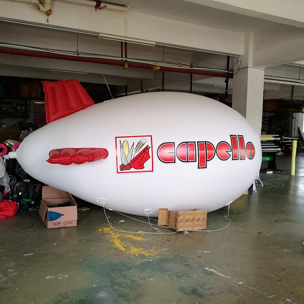 popular cheap inflatable advertising balloon blimp / giant flying blimp for sale