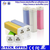 portable mobile power bank, Lipstick Promotional power bank 2600mah mobile cell phone charger