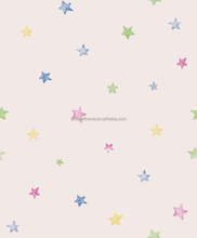 Beautiful Stars with Different Colors Design Kids Wallpaper